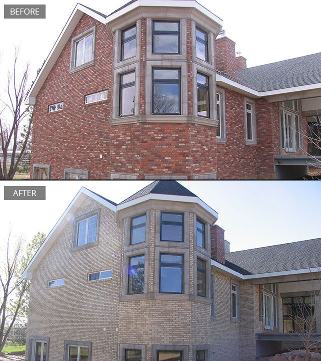Brickimaging is the leading provider of brick block stone and mortar staining its stayntech for Staining brick exterior pictures