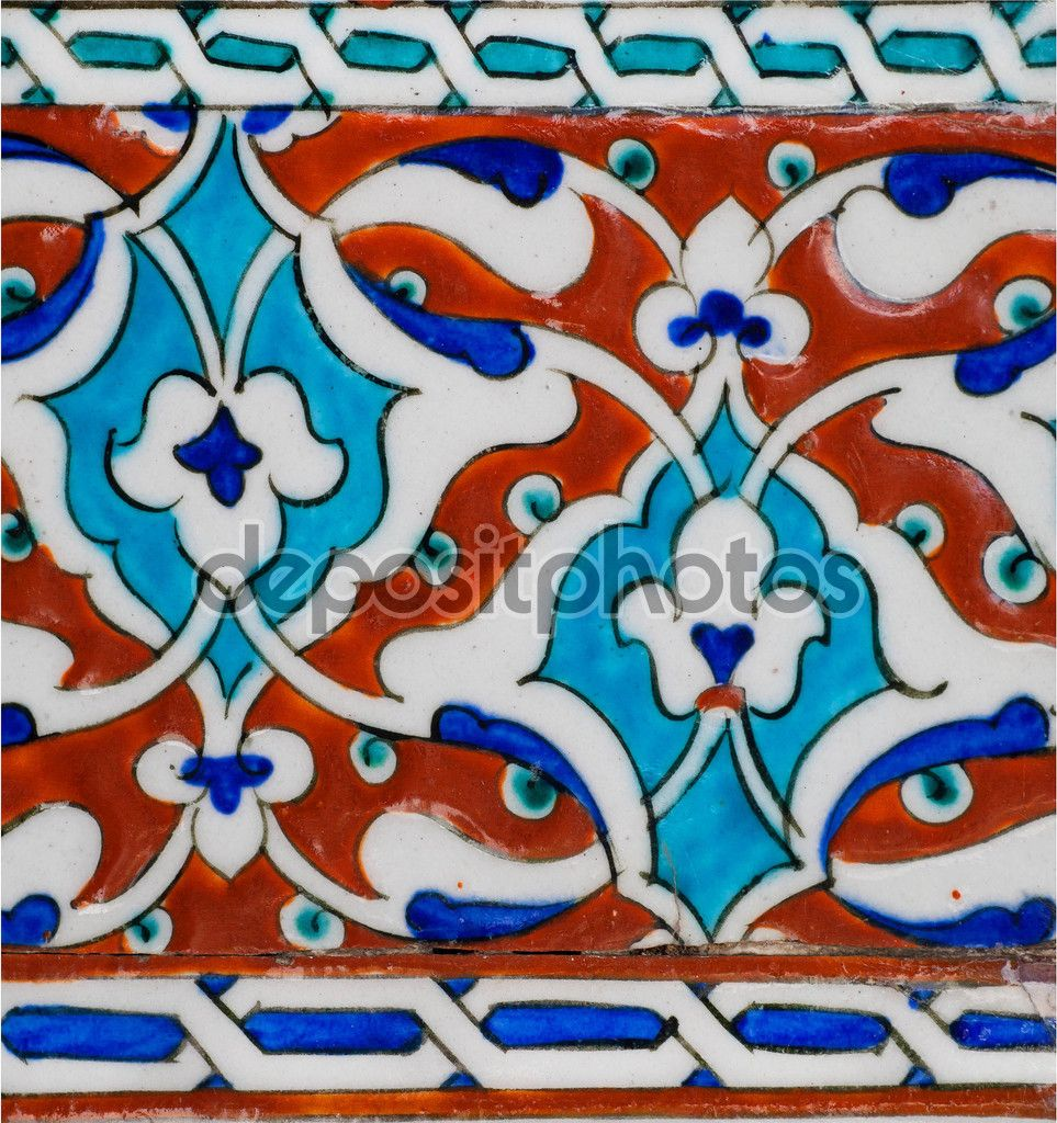 Yükle - Fragment of patterned walls with ceramic tiles in Ottoman ...