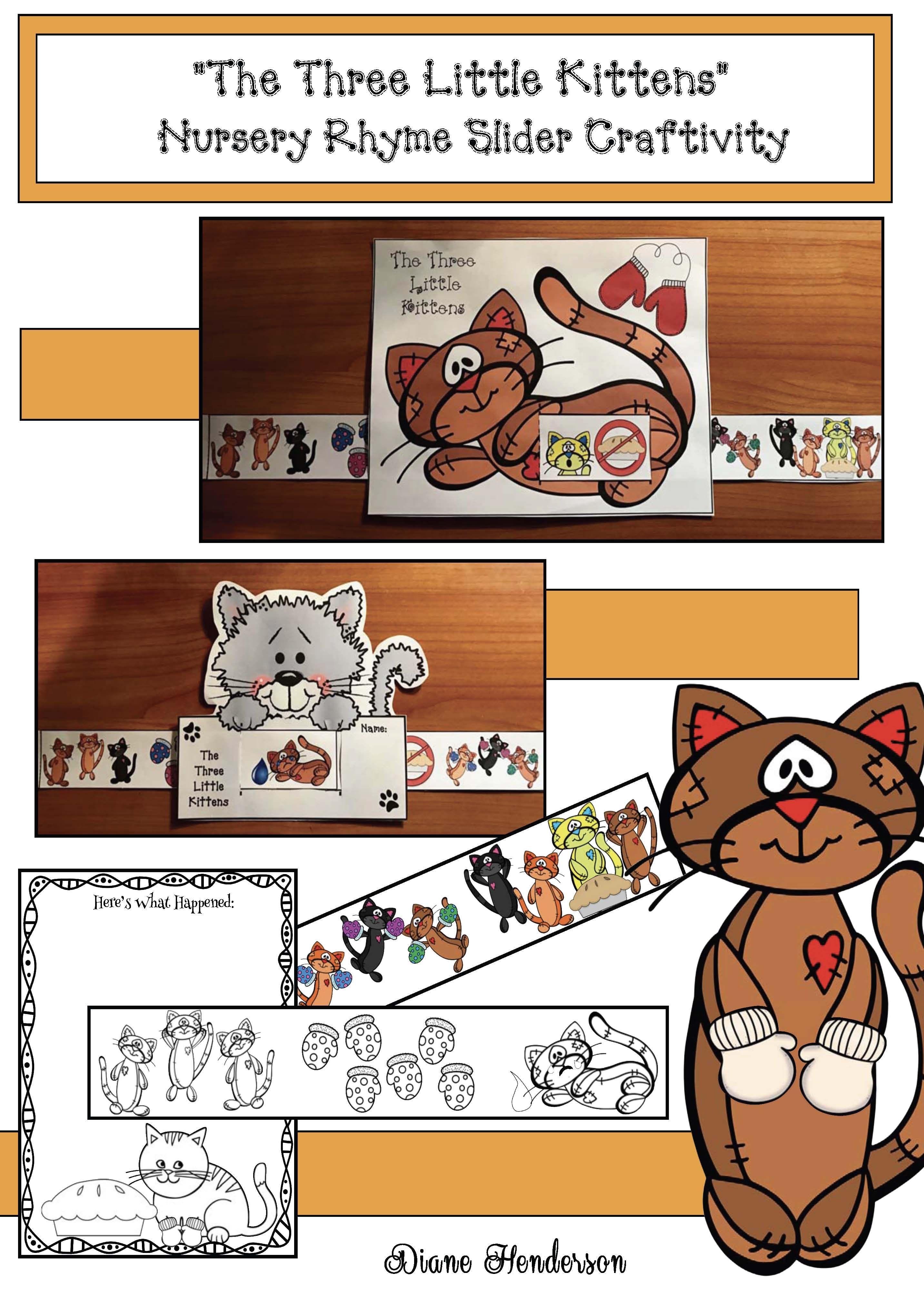 Activities For The Three Little Kittens Nursery Rhyme
