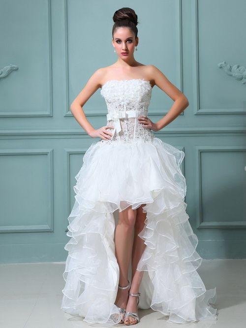 trendy wedding dresses short in front long in back   Wedding Dresses ...