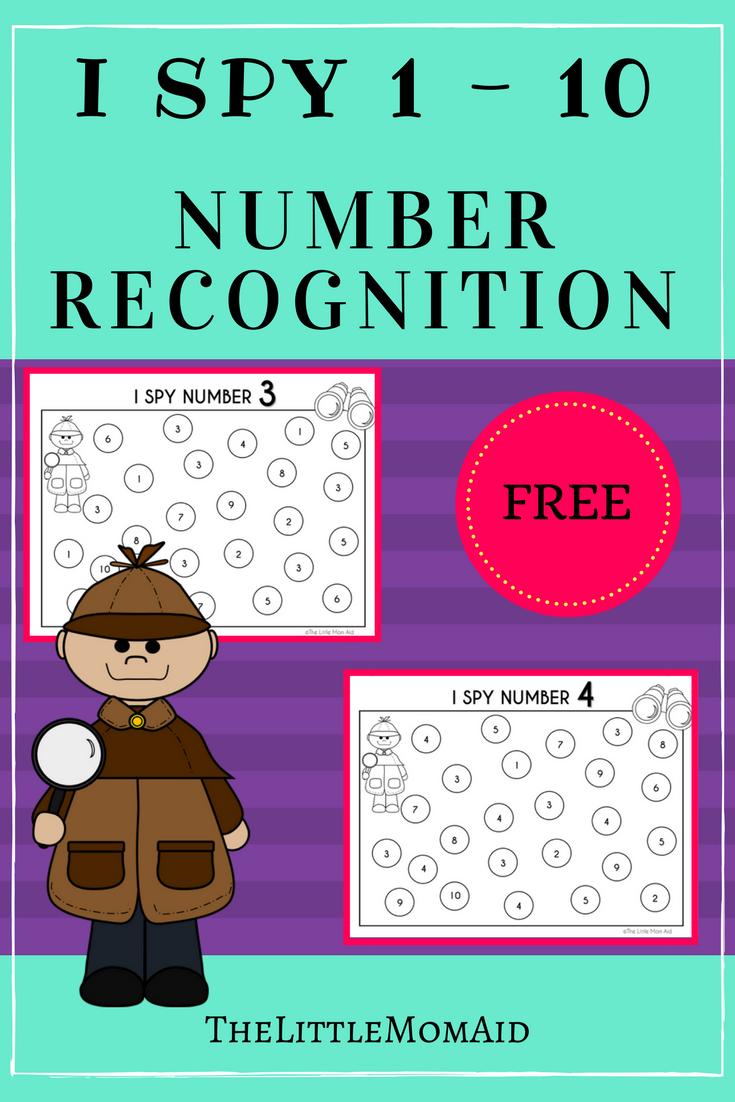 I Spy 0 10 Number Recognition Worksheets Number Recognition Worksheets Math Centers Kindergarten Numbers Preschool [ 1102 x 735 Pixel ]