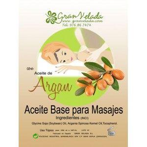 Aceite masaje base Argan, disfruta de un relajante masaje con aceite de masaje de Argán.
