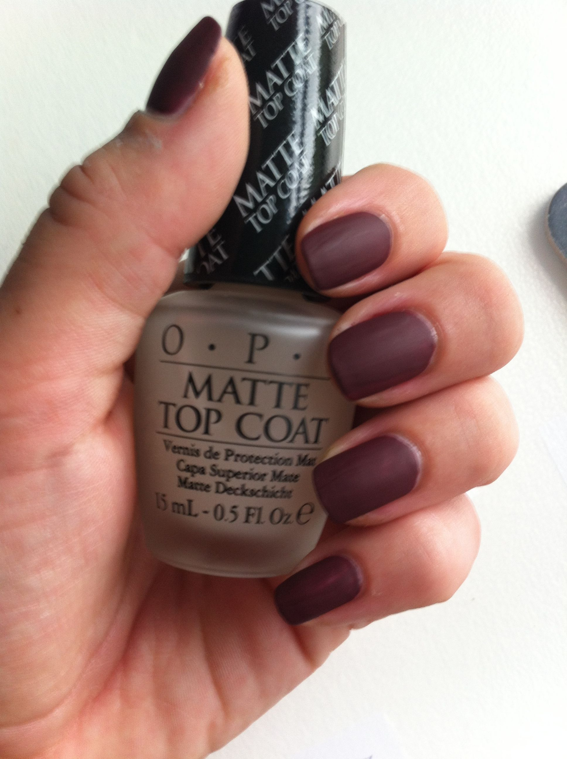 Starting out the fall 2013 Sunday, OPI Matte + Bordeaux nail polish ...