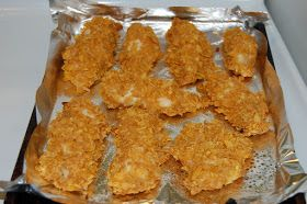 Oven Baked Corn Flake Crusted Chicken