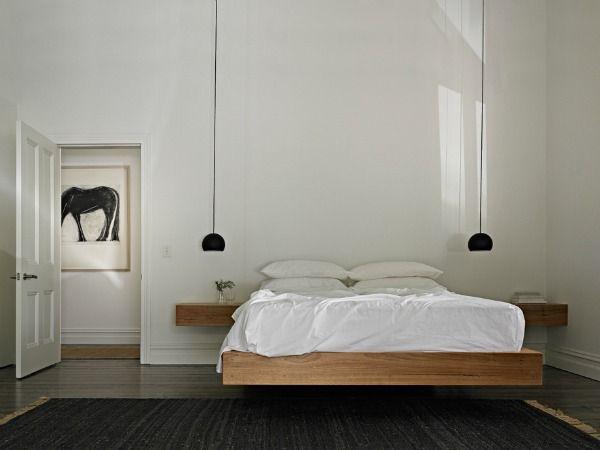 Lamp Slaapkamer Nachtkastje : Een hanglamp naast het bed geeft een bijzonder effect de zwevende
