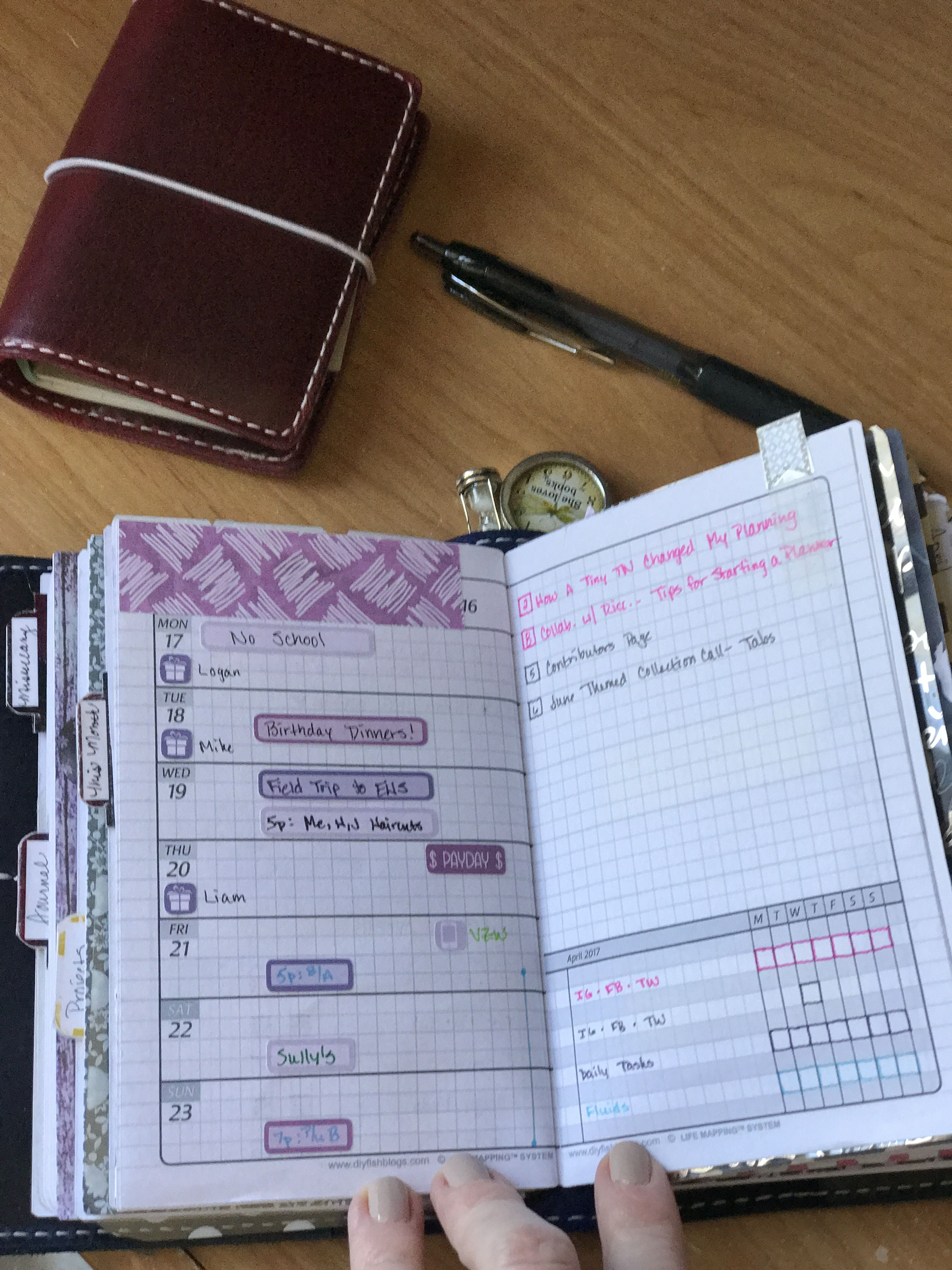 Week 16 2017 In Field Notes Size Diyfish V3s2 With Planner Kate