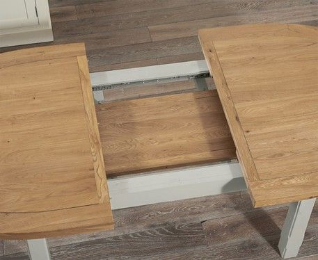 The Chelsea Oak Grey Extending Dining Table With