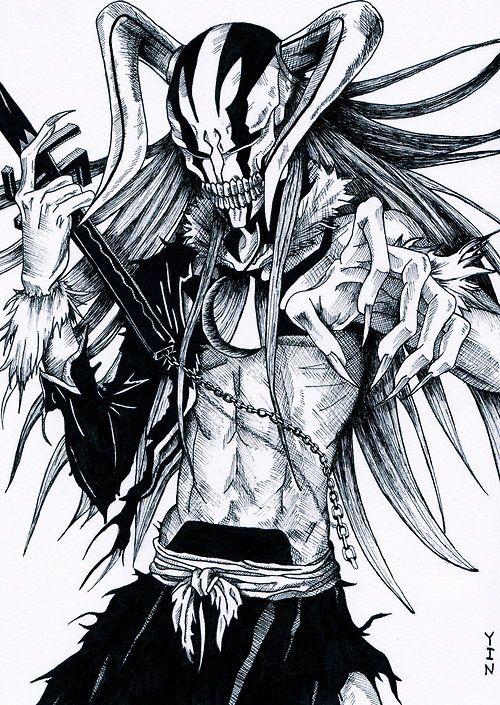 Hollowfication Ichigo Bleach Manga Anime Manga Vocaloid