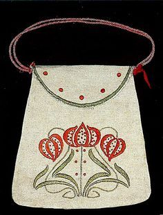 Arts and Crafts Embroidered Bags c.1912
