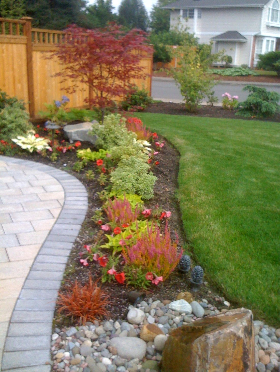 Front Yard Landscape Design For Corner House The Garden Of Her Dreams An  Olympia Gardener Creates