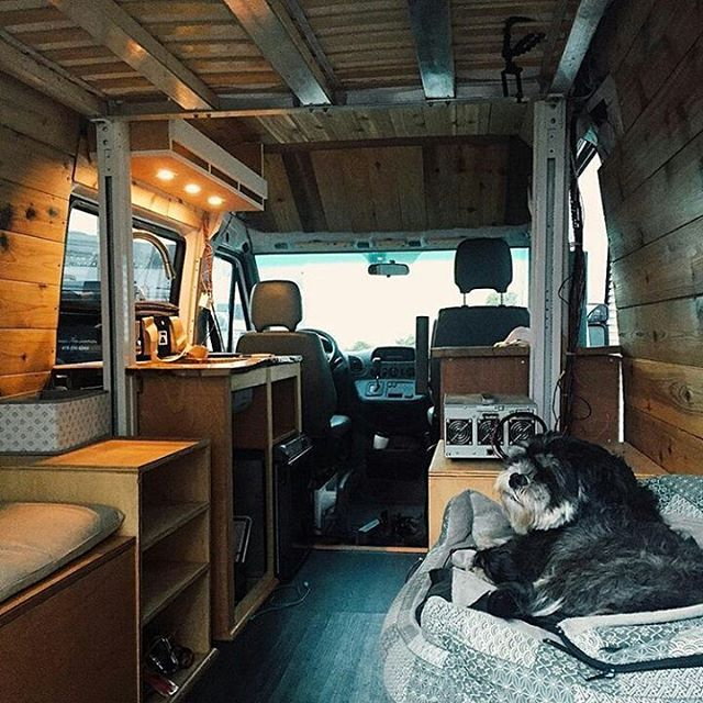 Custom Designed Sprinter Van Conversion Is Packed With Great Design Dual Bench Seating Drop Down Bed Storage Full Kitchen Roof Deck And Solar Powered By