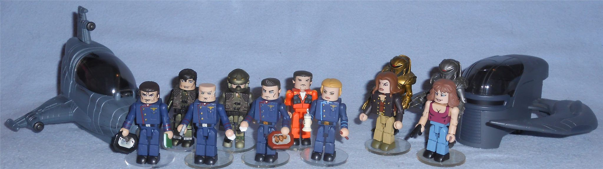 Battlestar Galactica Minimates série 2 Colonel Tigh