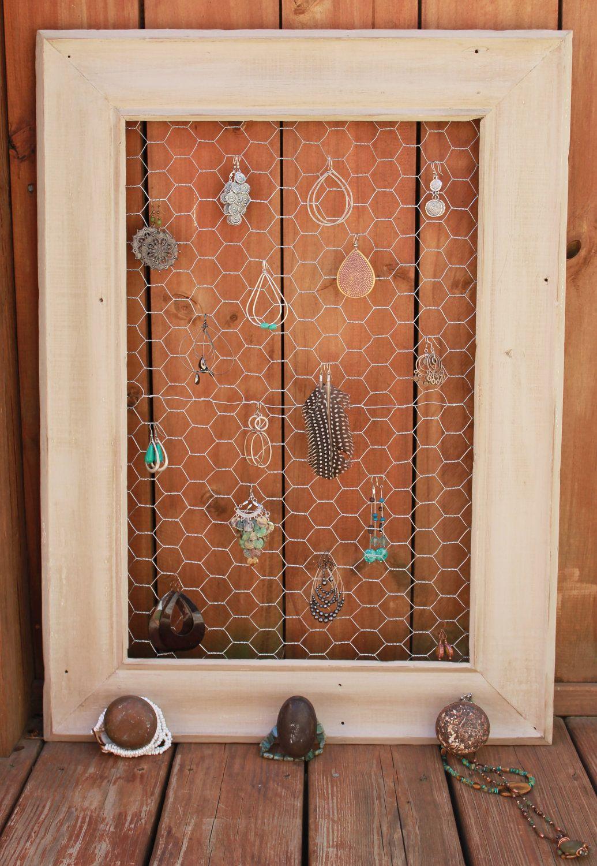 Chicken Wire Jewelry Holder via Etsy  | DIY & Repairs | Chicken wire