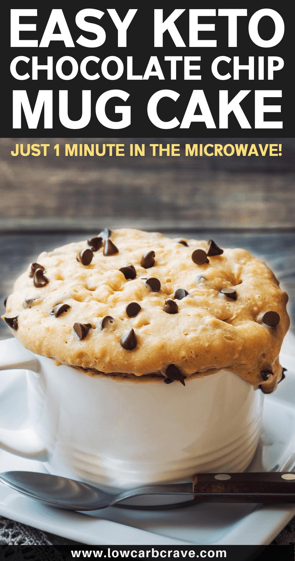 Easy Keto Homemade Chocolate Chip & Peanut Butter Mug Cake ...