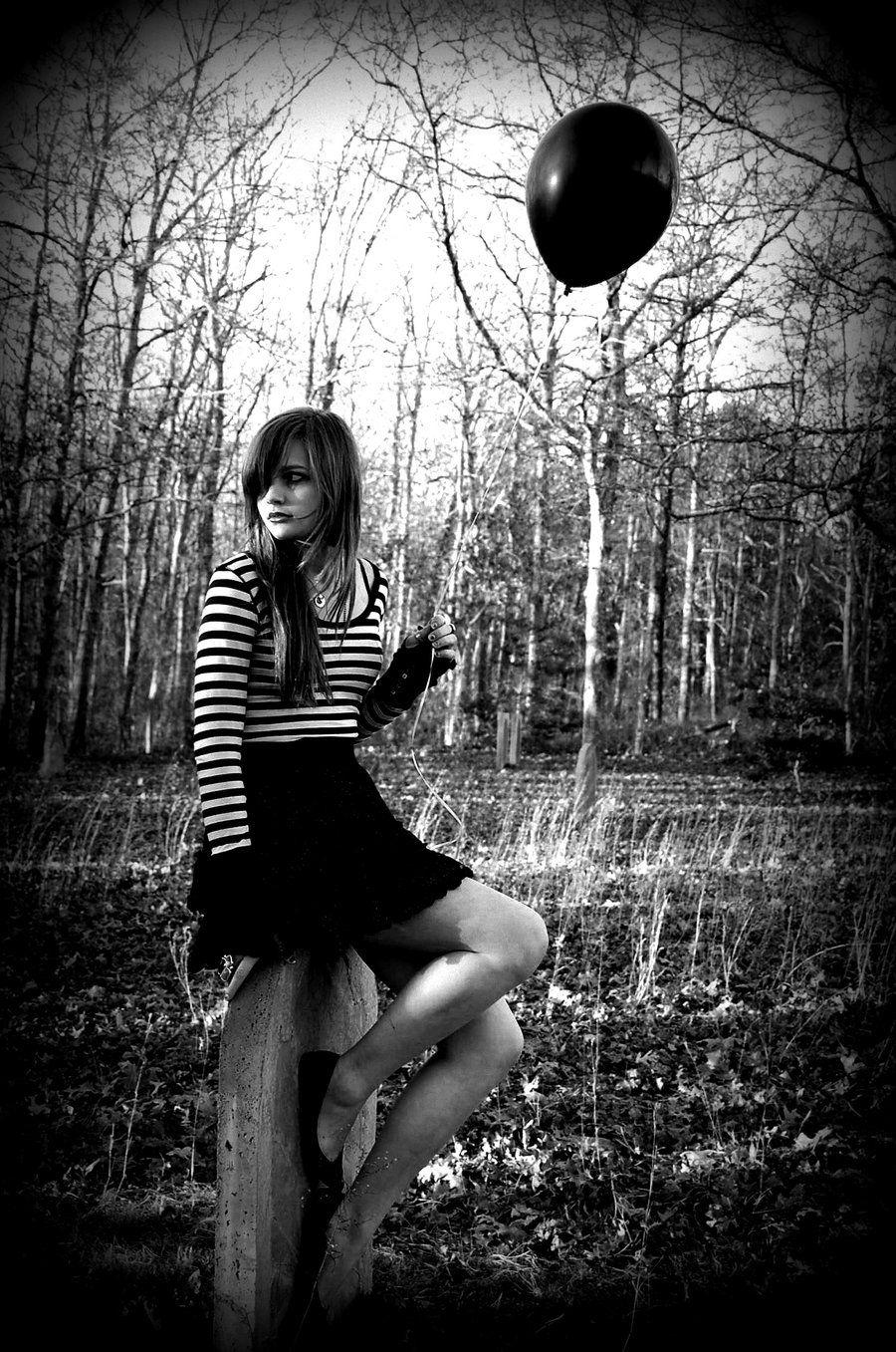 000 farewell my black balloon by oceansided Black balloons