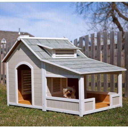 Precision Outback Savannah Dog House with Porch - Walmart.com