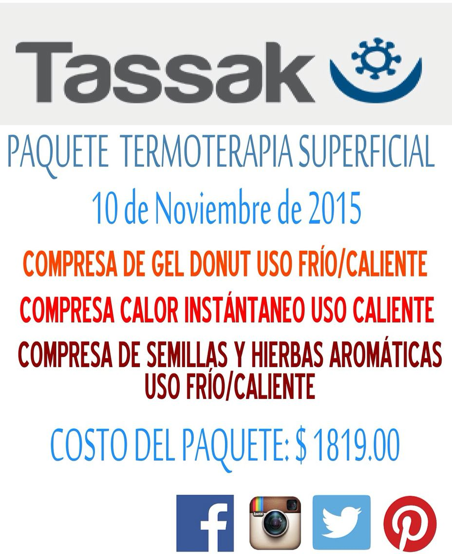 No te pierdas nuestra promoción para el 10 de Noviembre de 2015, pide informes a través del correo: tassakpys@gmail.com