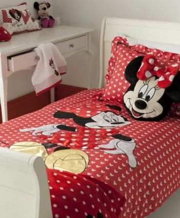 Disney \'Minnie Oh My\' Minnie Mouse Red White Double Duvet Set ...