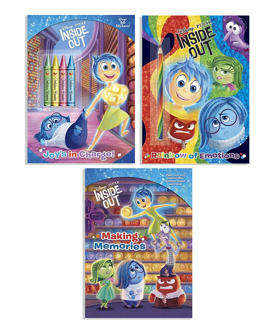 Look at this Inside Out Activity Book Set on #zulily today!