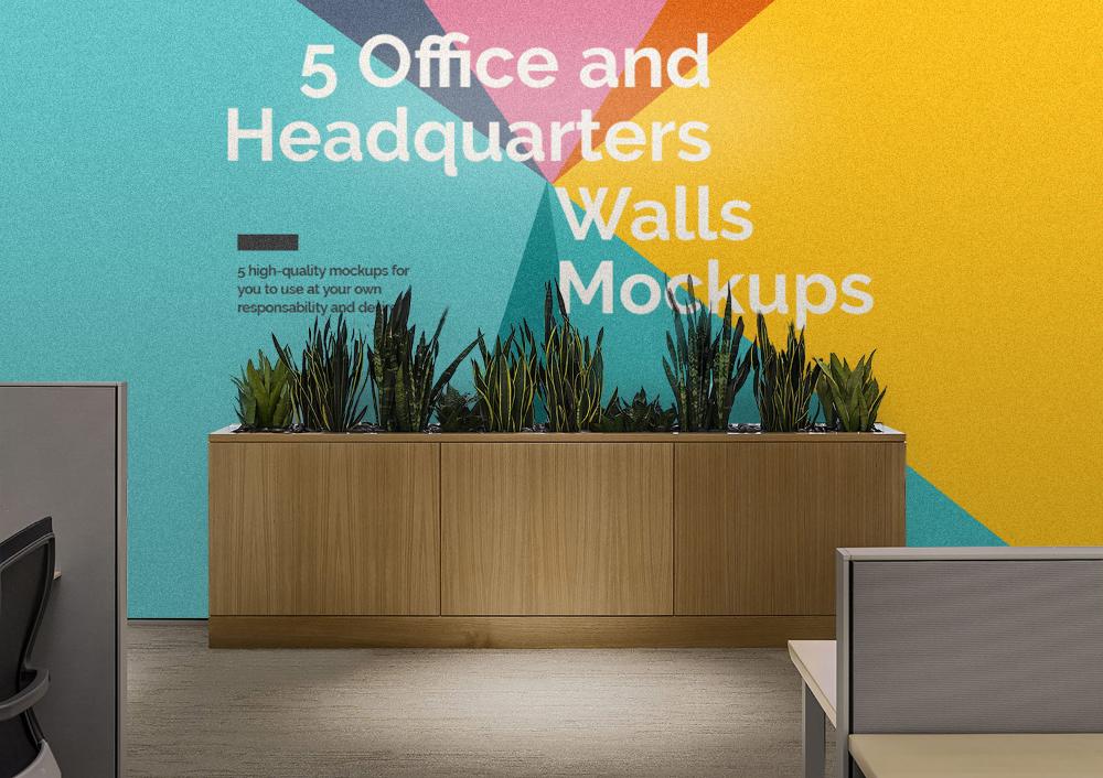 5 Free Office Interior Mockup Psd Free Mockup Mockup Free Psd Office Interiors Office Wall Design
