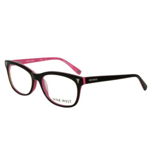 Nine West Womens Black and Pink Glasses Opticians