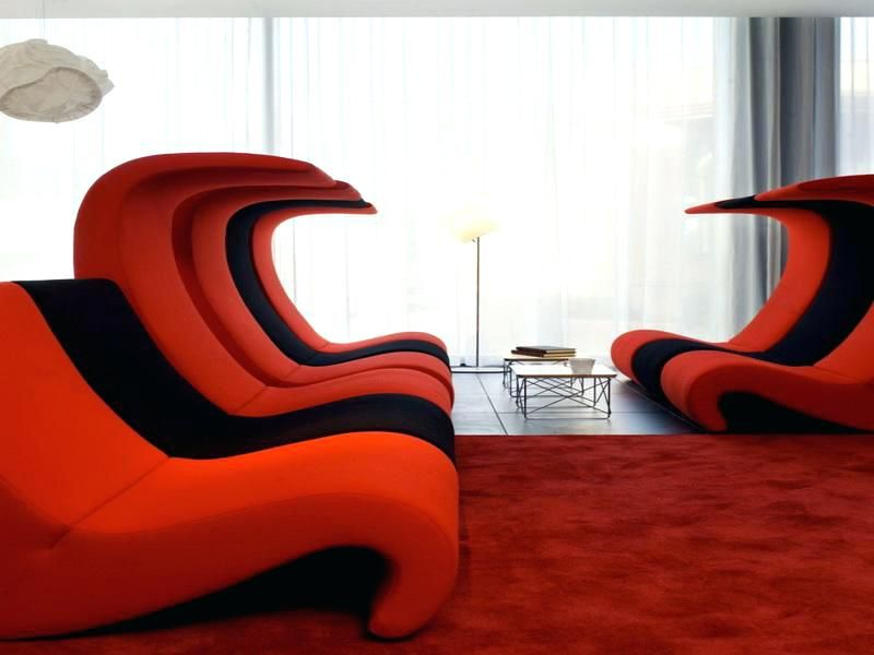 Schwarze und rote Möbel Innenarchitektur 2018 by Neu Dekoration