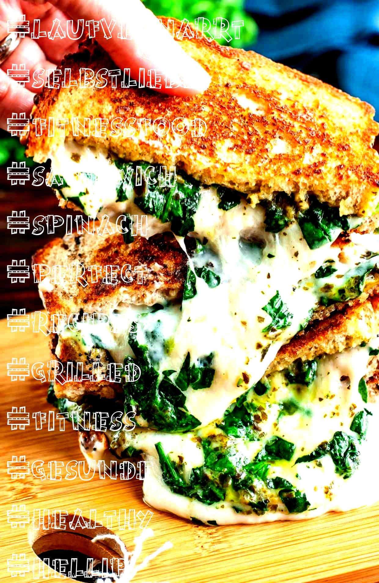 #laufvernarrt #selbstliebe #fitnessfood #sandwich #spinach #perfect #recipes #grilled #fitness #gesu...