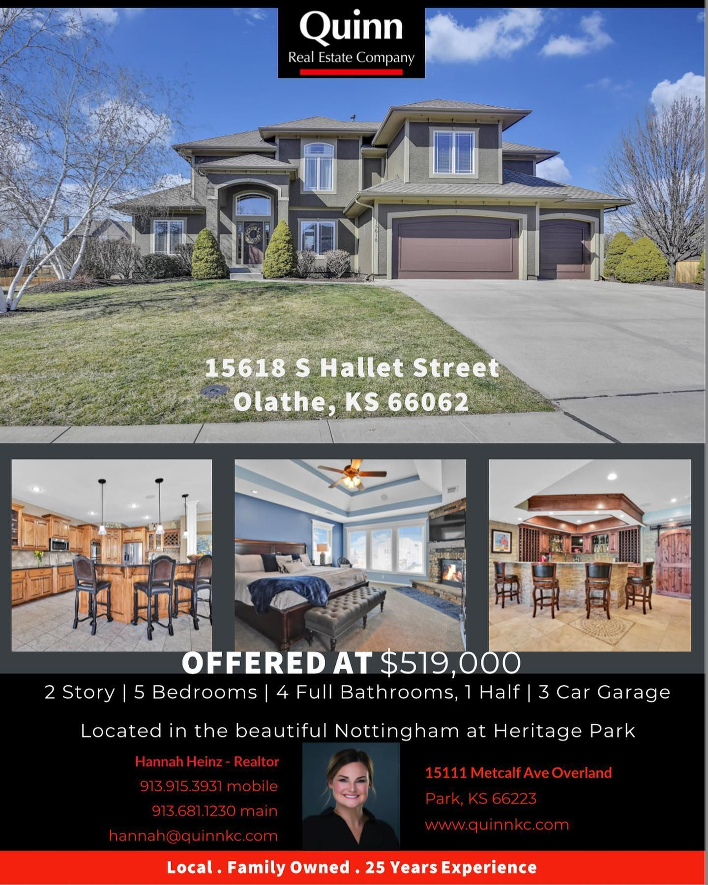 Just Listed This Beautiful 2 Story Home In Nottingham At Heritage Park Is Fresh On The Market And Won T In 2020 Overland Park Ks Overland Park Real Estate Companies
