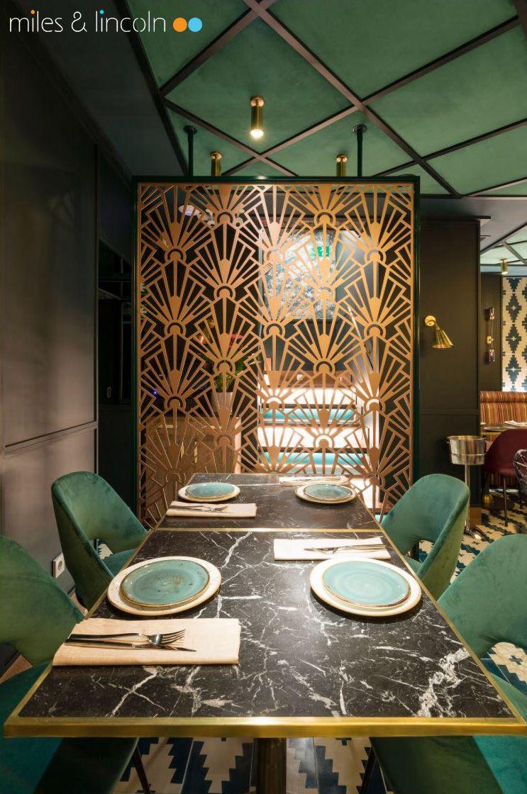 Laser cut screen - Madrid restaurant - Deco design finished in ...