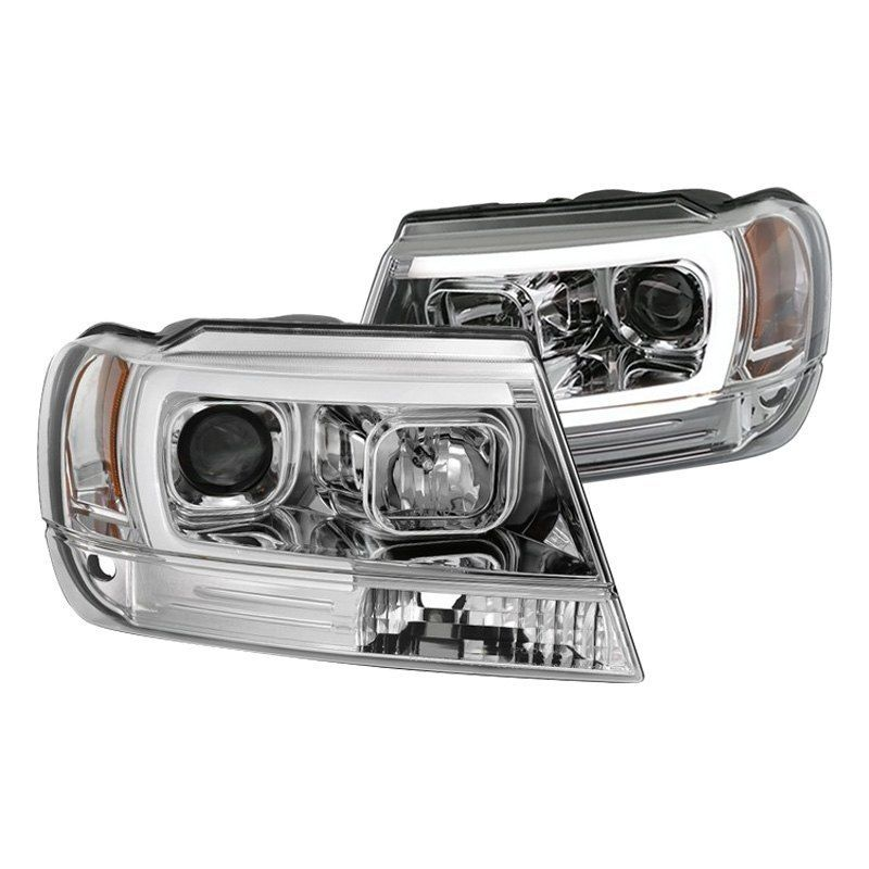 Spyder Chrome Led Drl Bar Projector Headlights In 2020