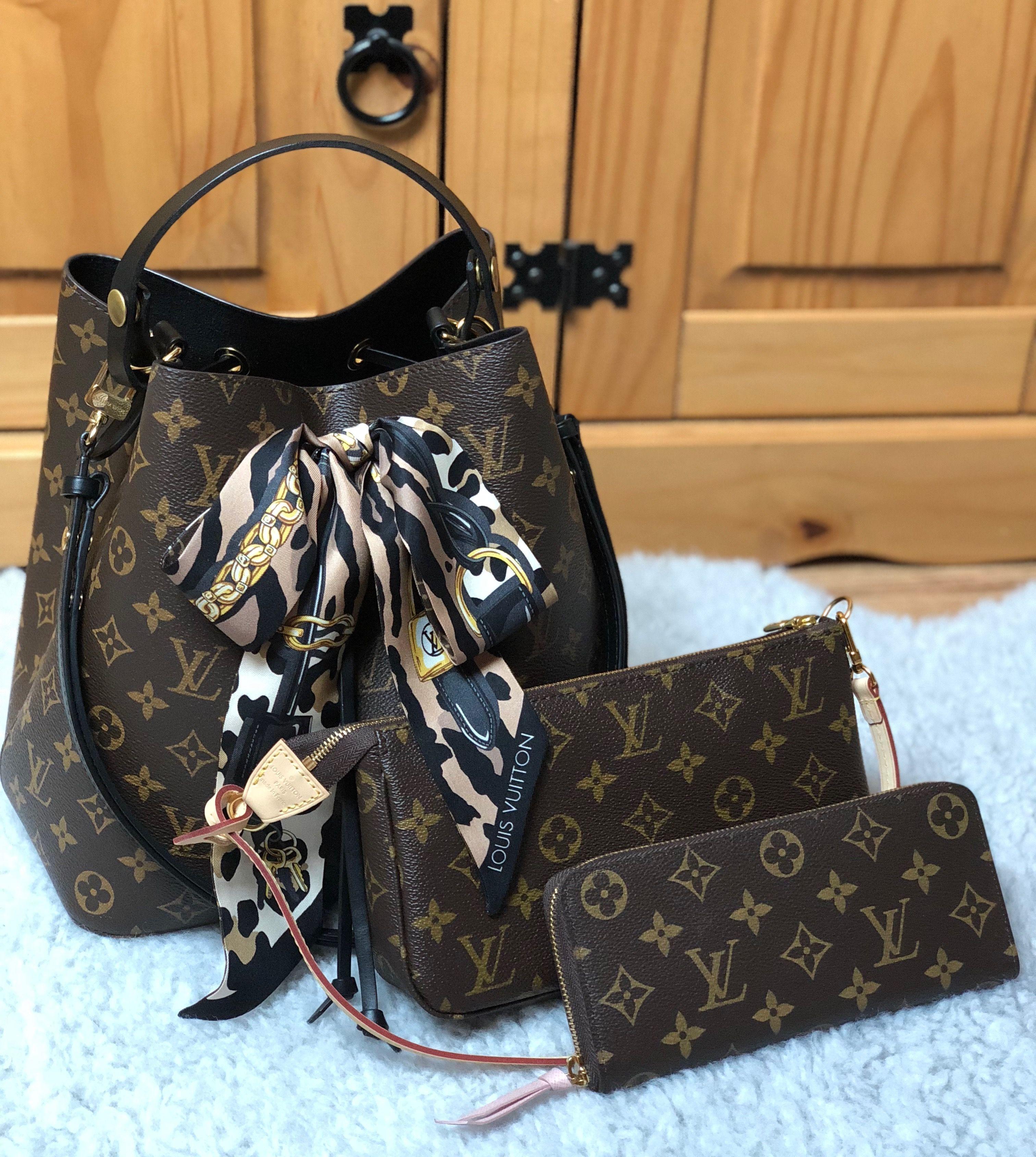 928a0f664e607 Louis Vuitton Neo noe + pochette accessoires + wallet Celemence ...