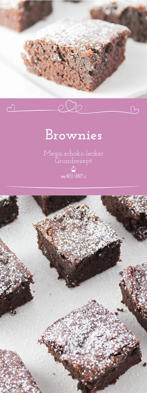 Grundrezept Schoko Brownies