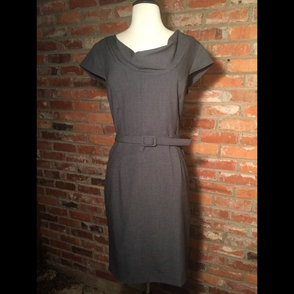 Gray dress with coordinating fabric belt Business casual doesn't have to be sloppy. This dress makes you look promotion-ready!  Worn once or twice.✅Reasonable Offers Ate Considered✅ Dresses