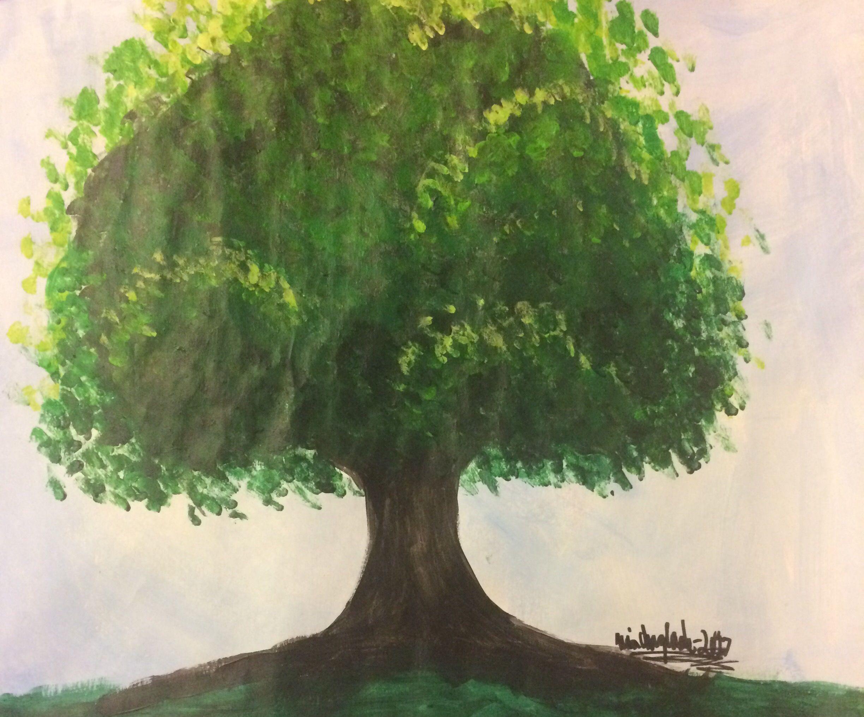 An illustration of a tree. #colors #artist #creativeniaarts #art ...