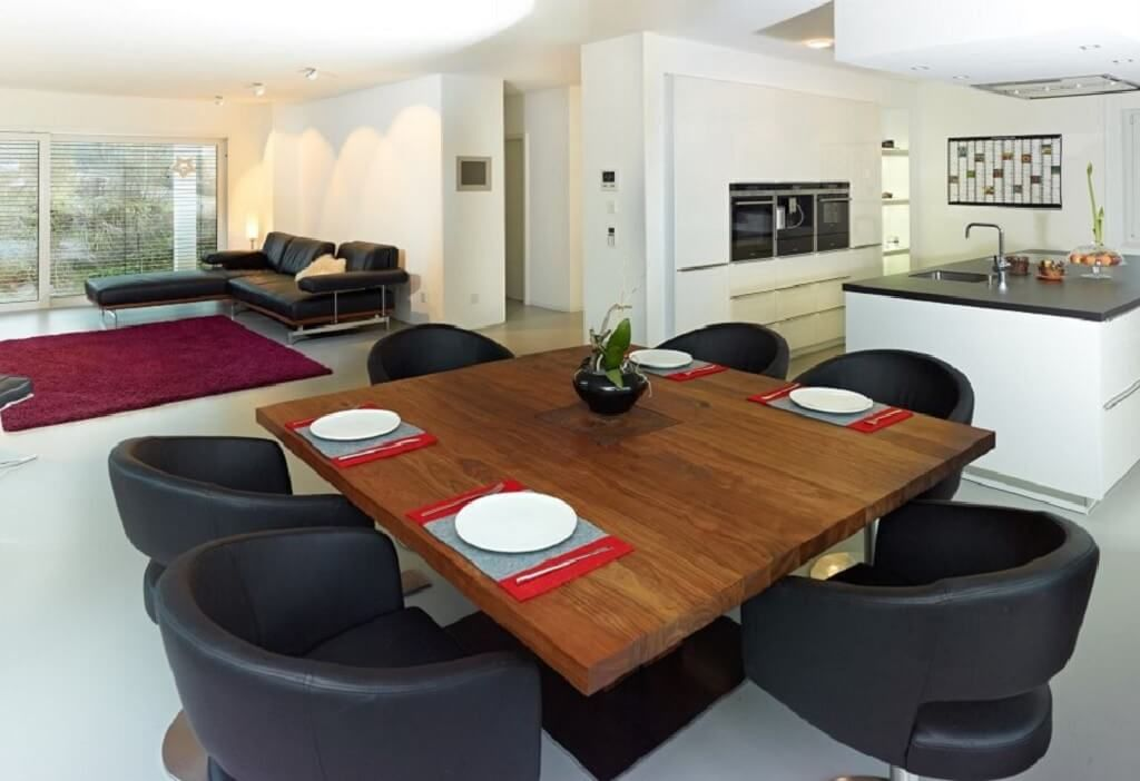 Wohnzimmer Ideen modern Haus Trier_Streif Haus - offene Küche - wohnzimmer ideen modern weis
