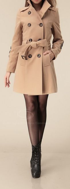 Neutral Style | Stand Collar Coat.  dresslily.com