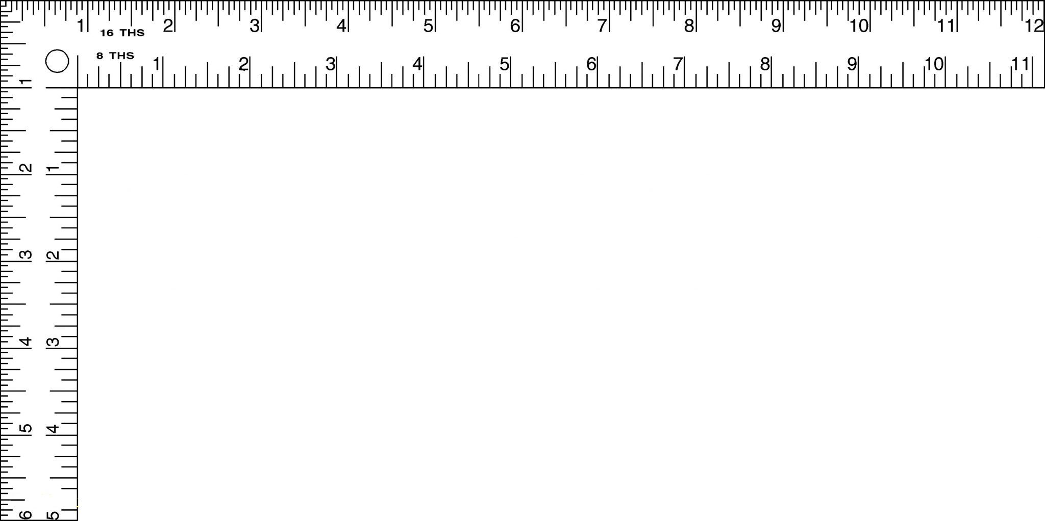 Printable Ruler Actual Size 6 inch 12 inch, Mm, Cm (With