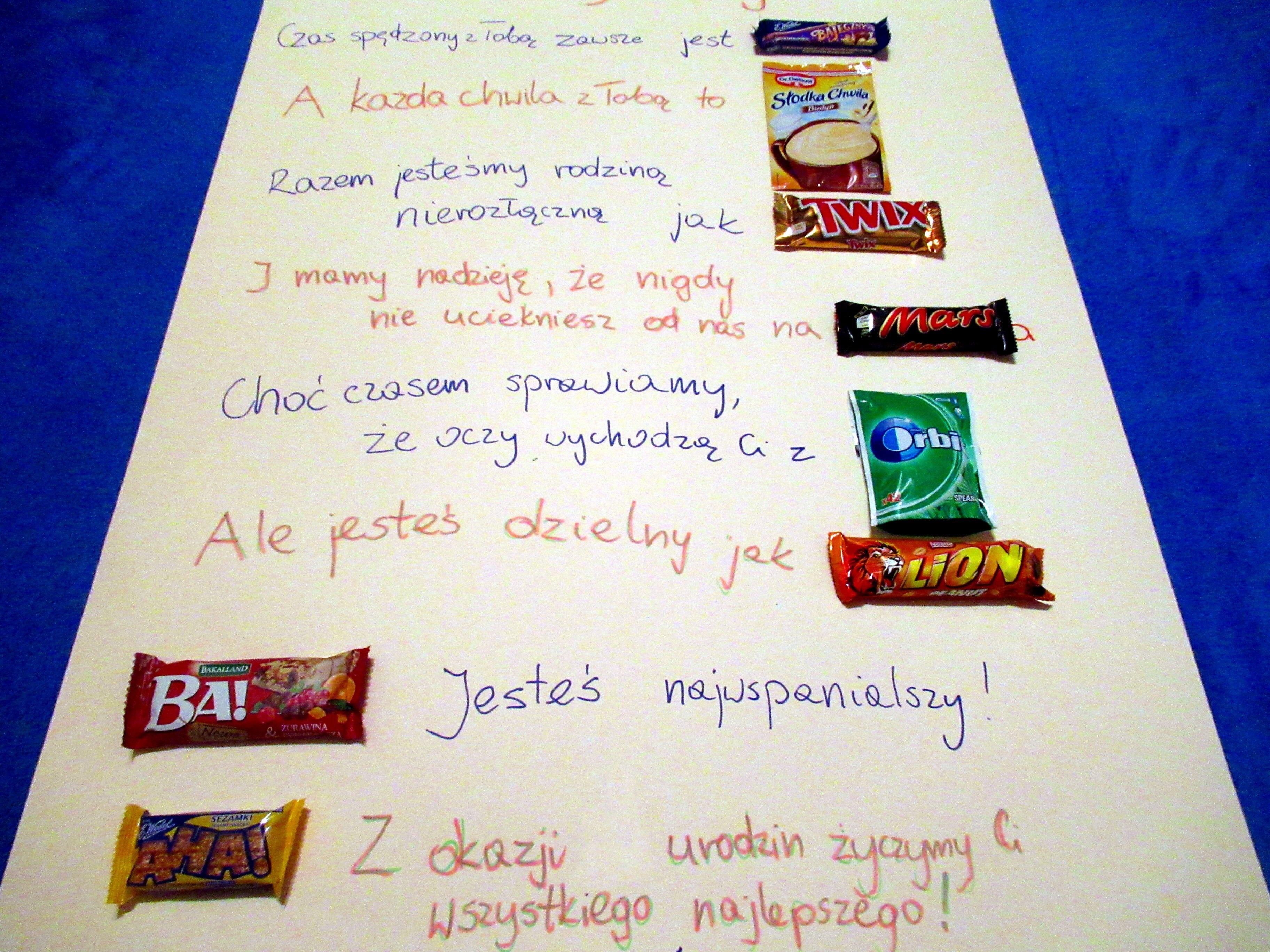 Jak Zrobic Zyczenia Dla Nauczyciela Z Batonikow Prezenty