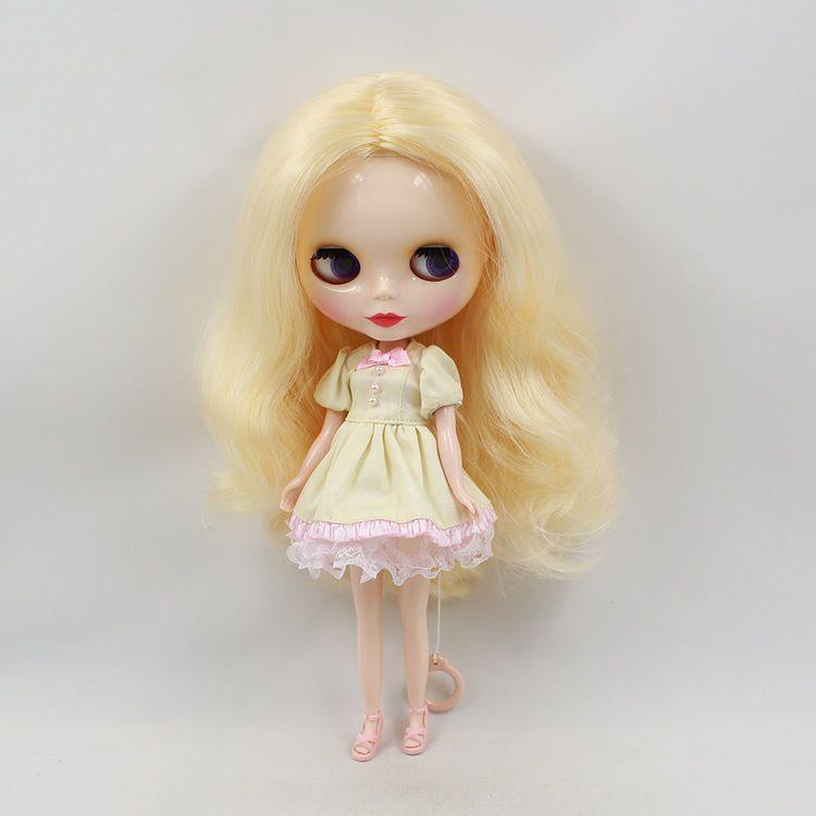 "Takara 12"" Neo Blythe Doll Light yellow hair from Factory #A006G#"