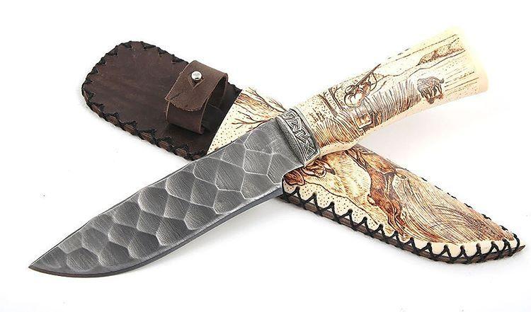 Охотничий нож из дамасской стали цена нож victorinox 0.3803