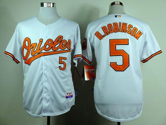 8bec5eba7 MLB BALTIMORE ORIOLES  5 B.ROBINSON WHITE   JERSEY FJ