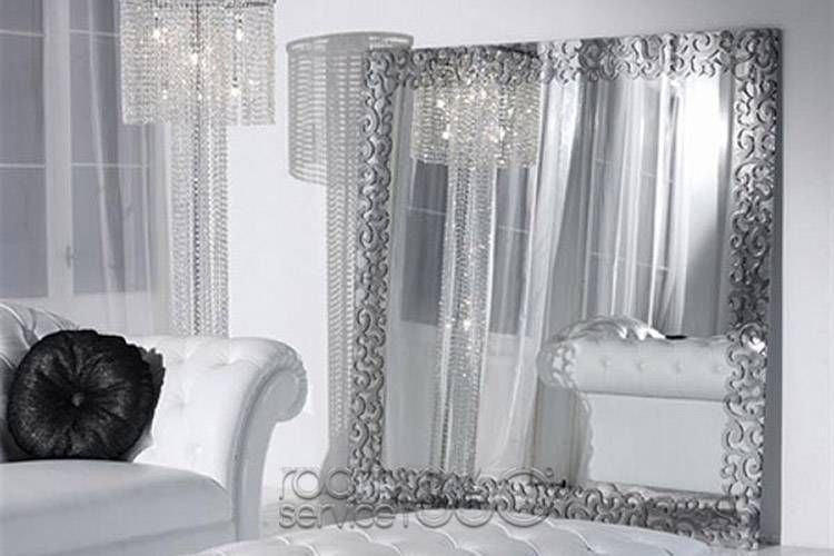 Aramis Modern Baroque Mirror with Chrome Frame by Collezione Noir ...