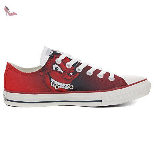 Converse Original CUSTOMIZED with printed Italian style (handmade shoes) Slim Diavolo Rossonero