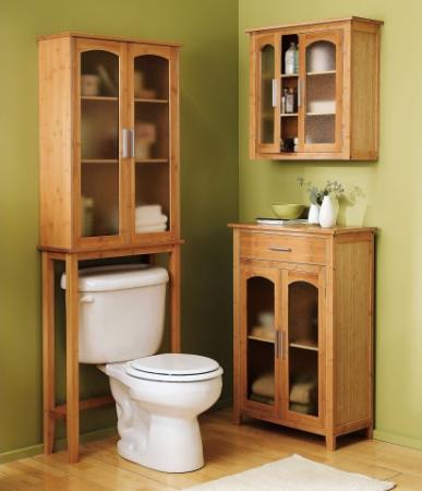 15++ Oak over toilet cabinet best