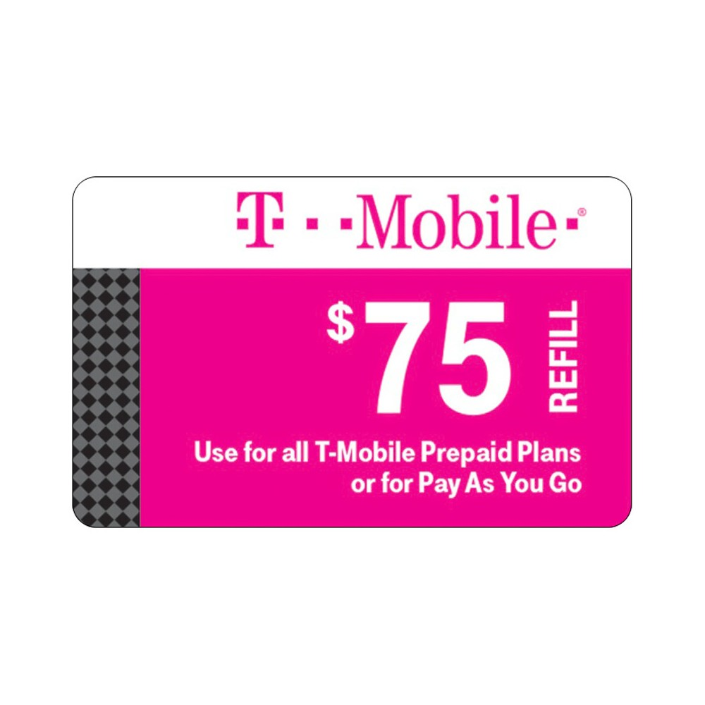 TMobile 75 Prepaid Refill Card (Email Delivery) Refill