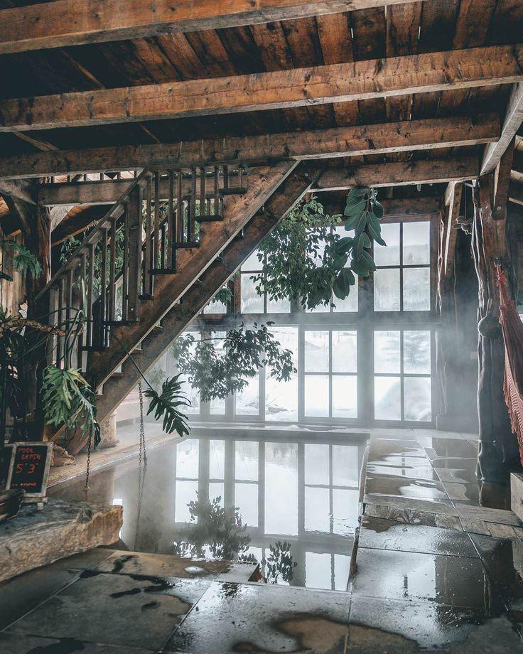 Natürliche natürliche heiße Quelle im Resort Dunton Hot Springs in Colo ...   - Design -