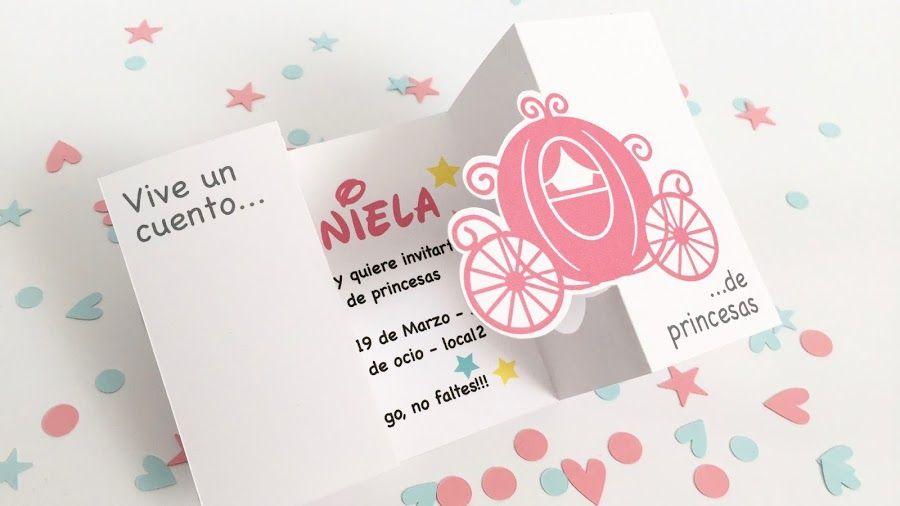 Cumpleaños de princesas: Diseño de invitación y marcasitio | Manualidades