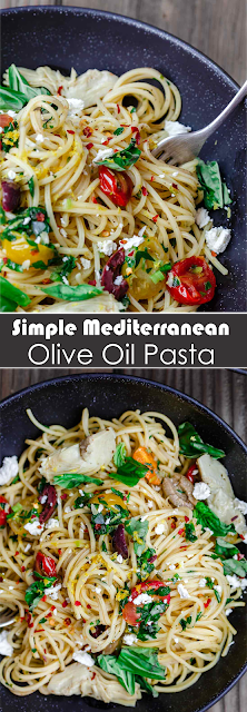 SIMPLE MEDITERRANEAN OLIVE OIL PASTA | Show You Recipes #oliveoils