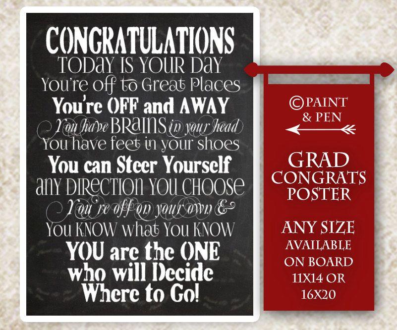 New to PAINTandPEN on Etsy DIY Congratulations Grad- Graduation