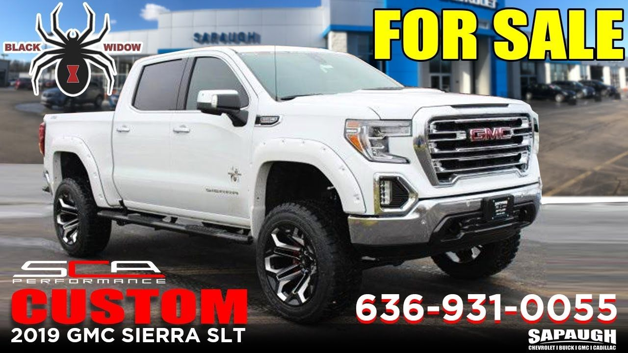 Lifted 2019 Gmc Sierra Custom Black Widow Edition Gmc Sierra Gmc Gmc Vehicles